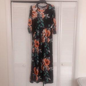 || floral maxi dress